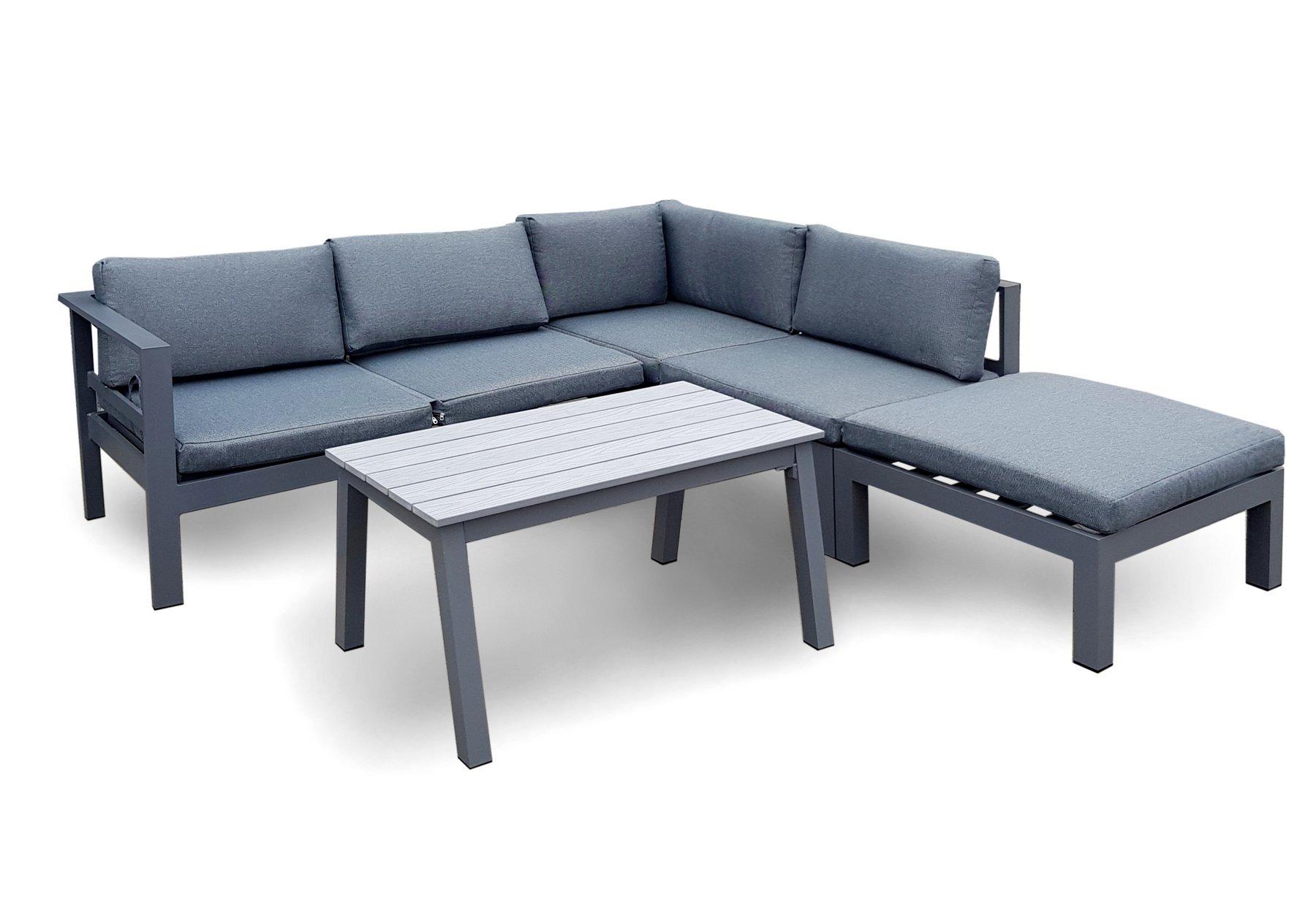 osoltus gartenlounge alu lounge copenhagen modern weiss ebay. Black Bedroom Furniture Sets. Home Design Ideas