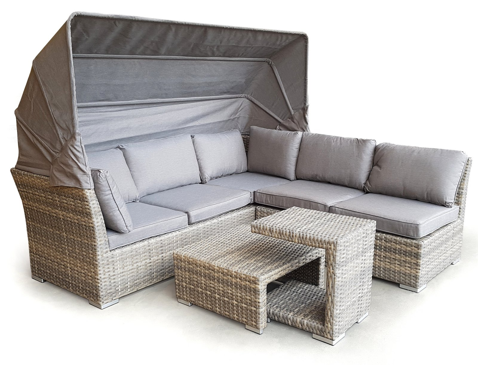osoltus gartenlounge cabrio lounge strandkorb palma mit dach ebay. Black Bedroom Furniture Sets. Home Design Ideas