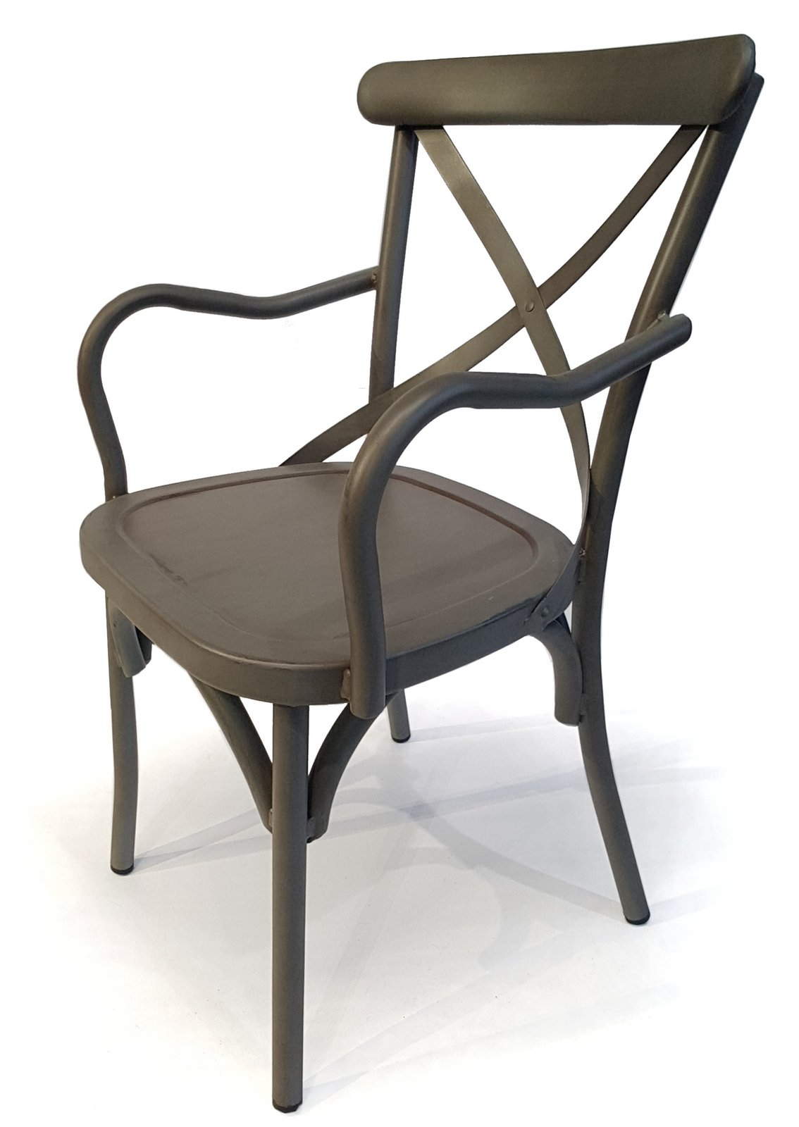 Osoltus Vintage Alu Stuhl Mit Armlehne Grau Ebay