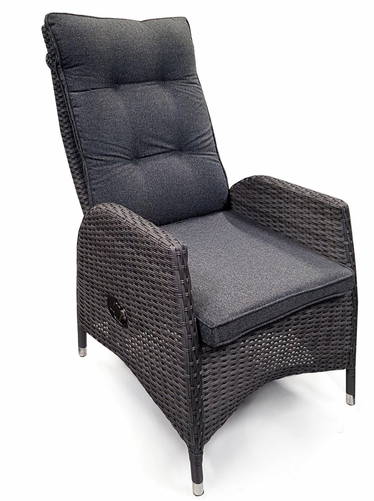 osoltus poly wicker rattansessel korbsessel vesrstellbar. Black Bedroom Furniture Sets. Home Design Ideas