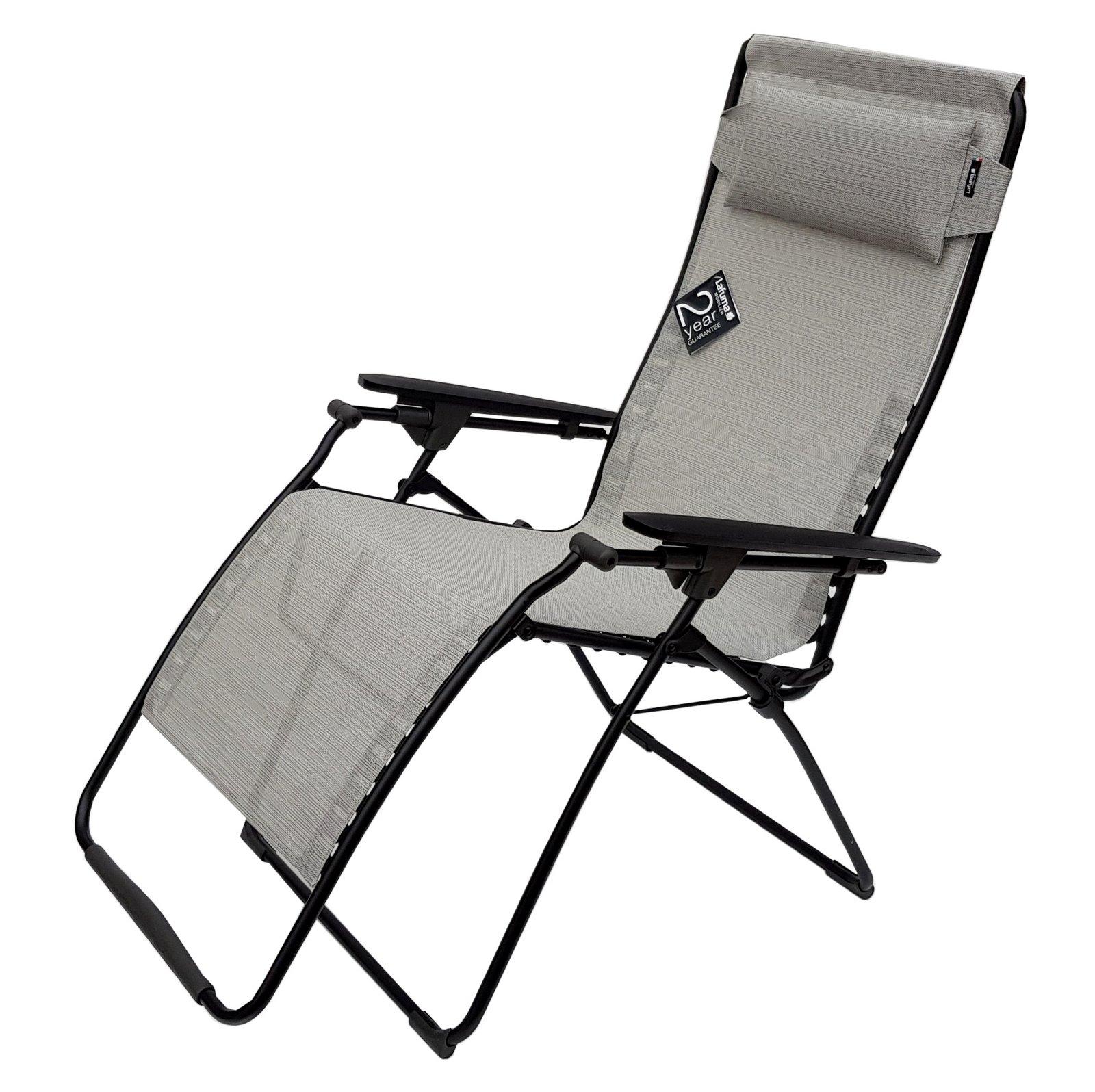 lafuma futura liegestuhl clipp relaxliege batyline grau galet ebay. Black Bedroom Furniture Sets. Home Design Ideas