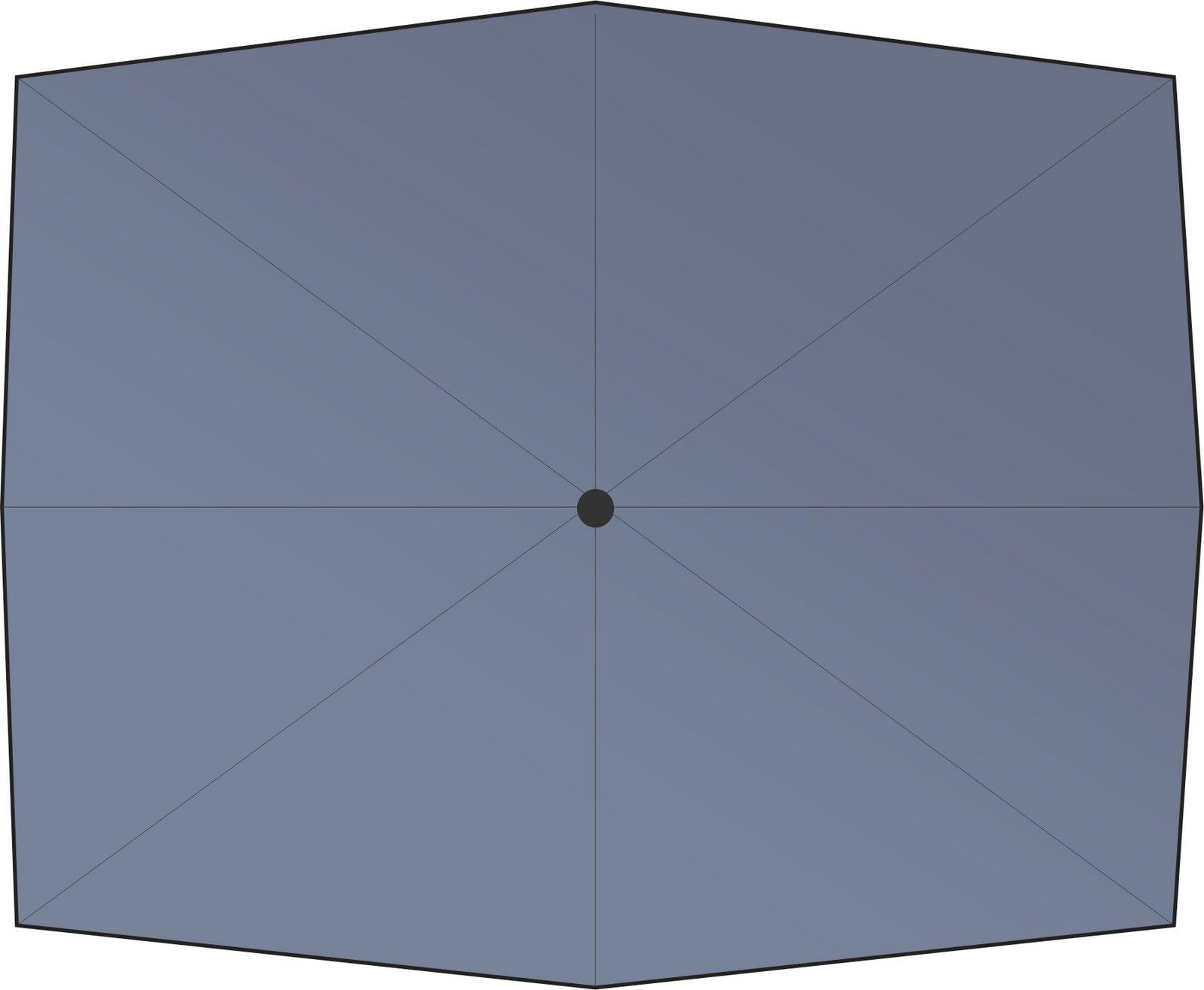 zangenberg ersatzbezug f r ampelschirm eckig grau 3m x 3m ebay. Black Bedroom Furniture Sets. Home Design Ideas