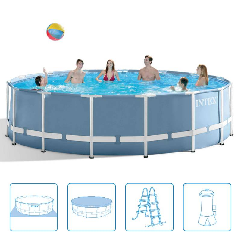 intex 28736gn metal prism frame pool set 457x122 cm ebay. Black Bedroom Furniture Sets. Home Design Ideas