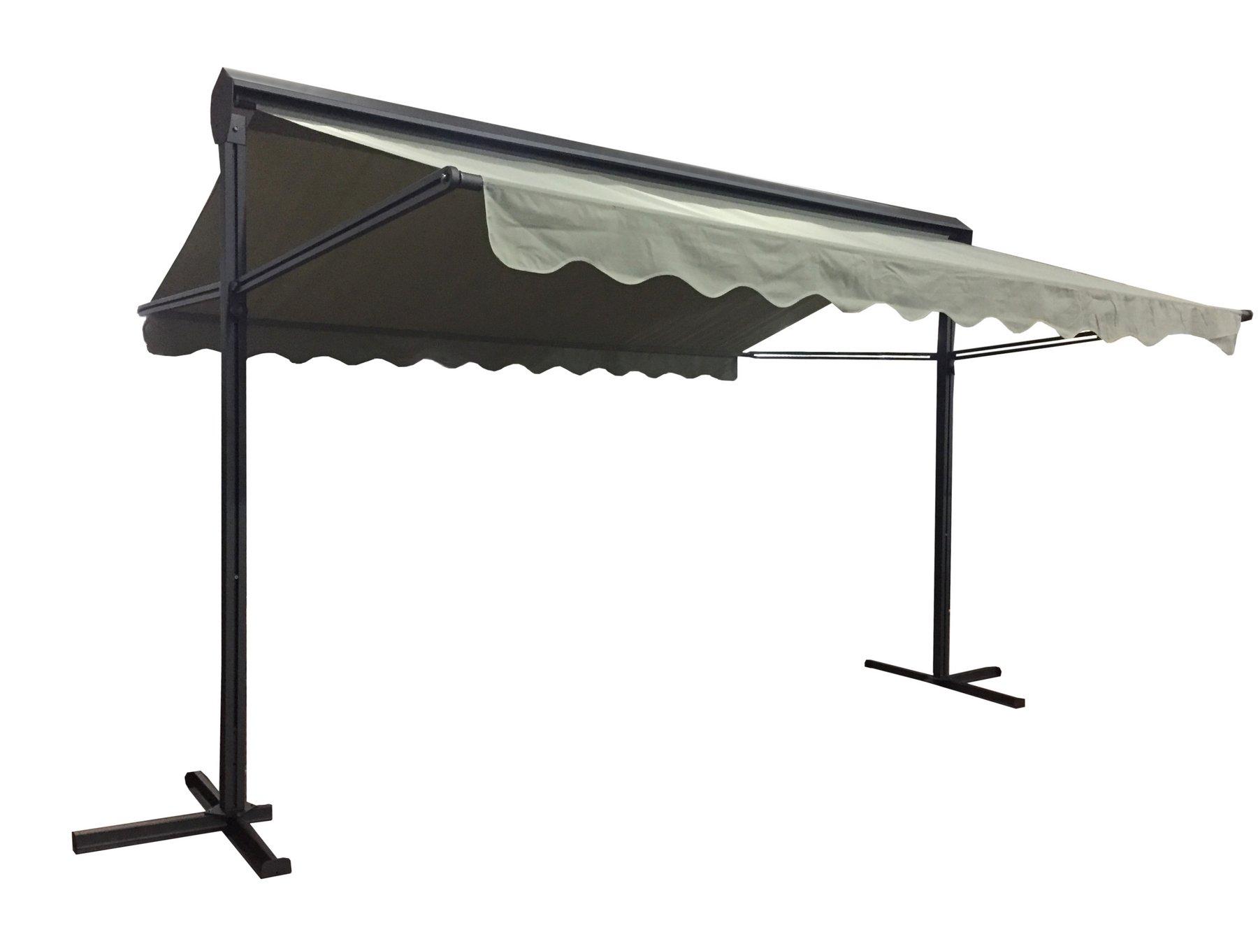 Turbo Balkon Standmarkise Gartenmarkise Doppel Markise 4 x 3m grau | eBay QT64