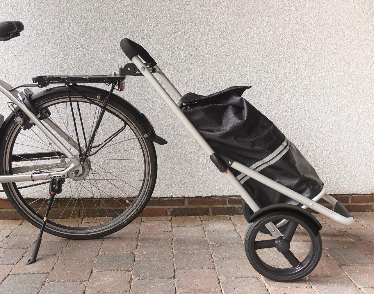 osoltus einkaufstrolley mit fahrrad kupplung. Black Bedroom Furniture Sets. Home Design Ideas