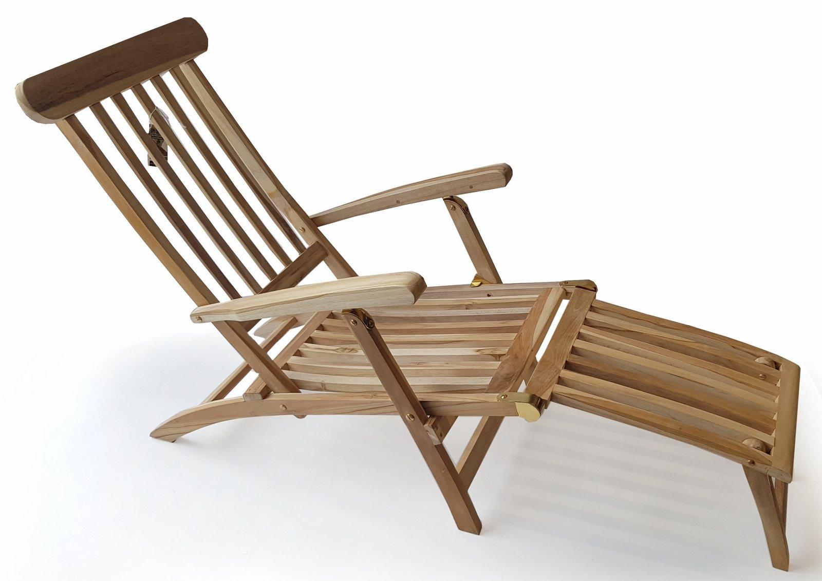 plo teak holz deckchair titanic liege stuhl sonnenliege 166x60x97cm. Black Bedroom Furniture Sets. Home Design Ideas