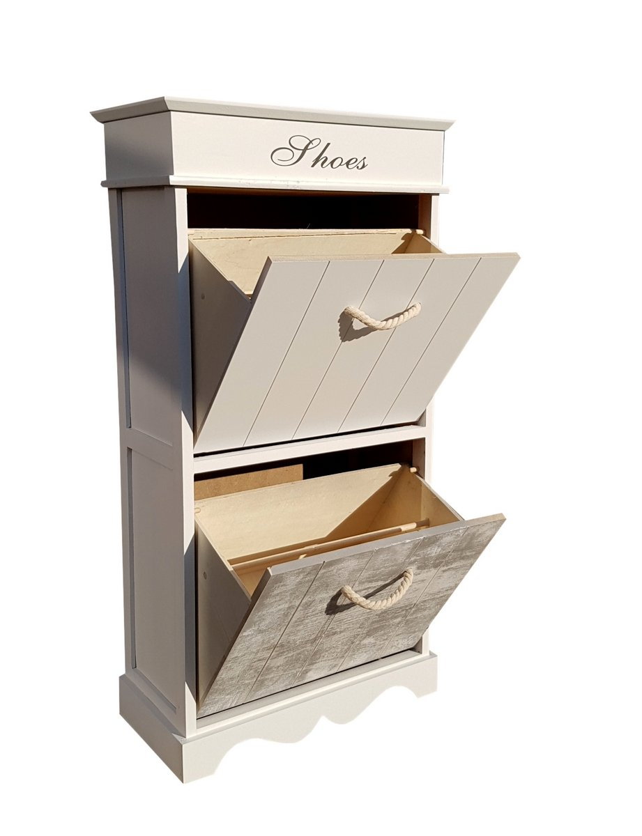 shabby chic schuhschrank kommode 50x28x98cm ebay. Black Bedroom Furniture Sets. Home Design Ideas