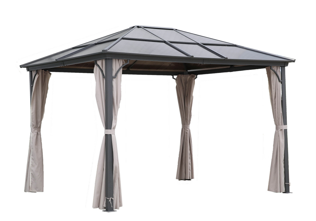 osoltus aluminium gartenpavillon hardtop polycarbonat 3x3 6 m moskiton ebay. Black Bedroom Furniture Sets. Home Design Ideas