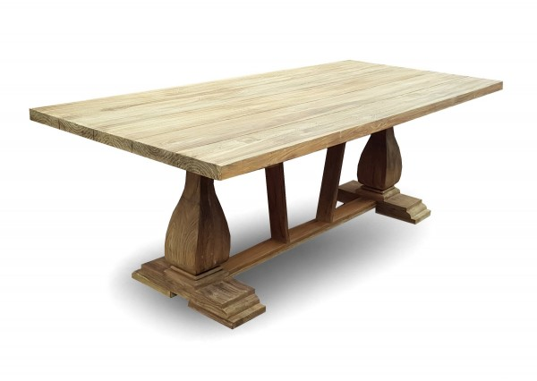Sens Line Teak Holz Kloster Tisch 220x100cm Stühle Tische