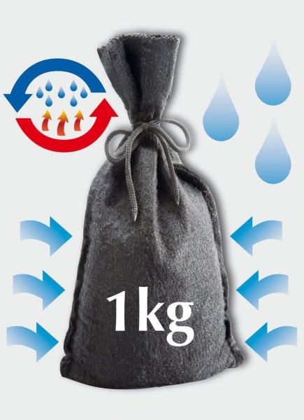 Wenko Raumentfeuchter Filz Sack 1kg wieder verwendbar