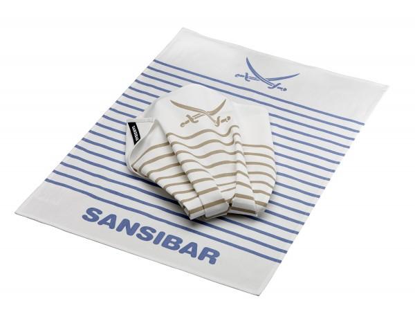 RÖSLE Sansibar Sylt Geschirrhandtücher 2er Pack gestreift 70x50 cm