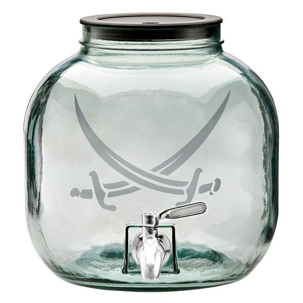 Rösle Getränkespender Sansibar Saftbar aus Glas mit Hahn 6 Liter