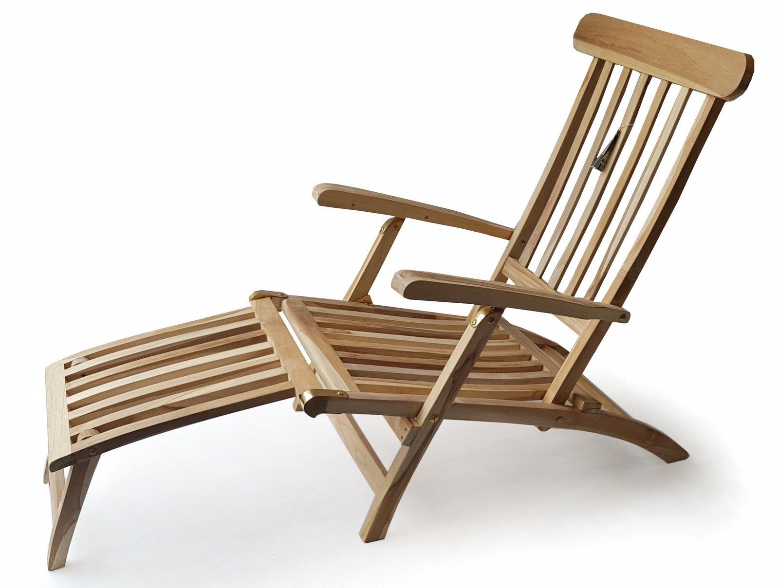 plo teak holz deckchair titanic liege stuhl sonnenliege 166x60x97cm relaxliegen garten. Black Bedroom Furniture Sets. Home Design Ideas