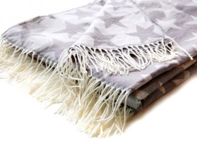 kuscheldecke gewebte decke plaid xxl 150x200cm stars. Black Bedroom Furniture Sets. Home Design Ideas