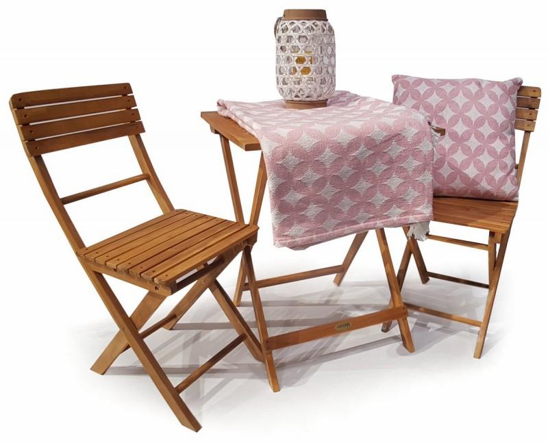 Ploss Gartenmöbel Balkon Set Akazienholz geölt 1 Tisch 2 Stühle ...