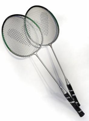 Viva Sport Badminton / Federball Set 2Schläger 1 Federball mit Kork
