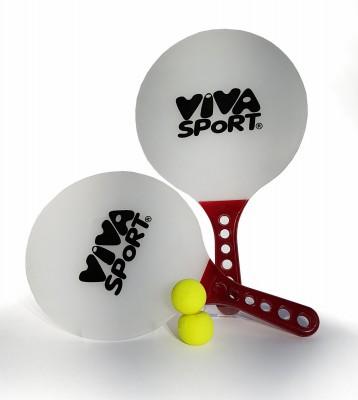 Viva Sport Beachball Set Strandball Schläger Cricket Ball