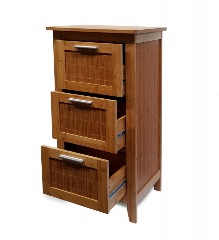 osoltus bambus bali schubladenschrank badschrank badregal. Black Bedroom Furniture Sets. Home Design Ideas
